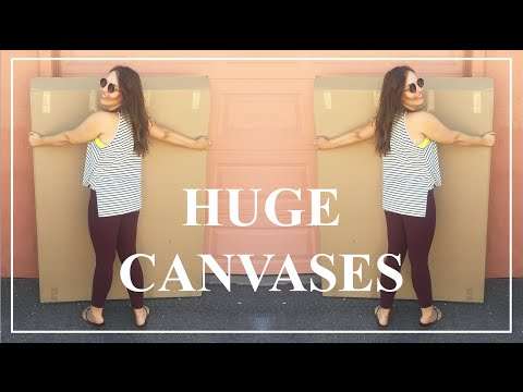 Buying HUGE Canvases! ♥ Paige Poppe, Artist