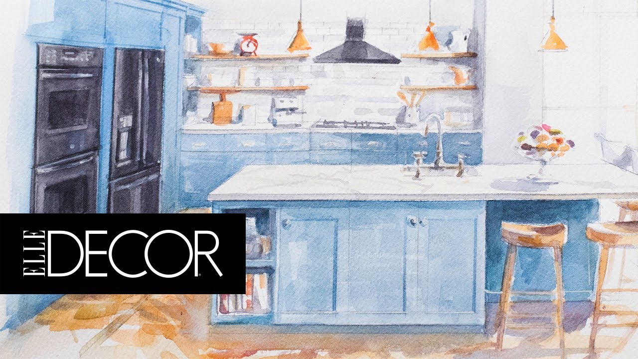 Sleek Colorful Dream Kitchen Elle Décor Ge Appliances