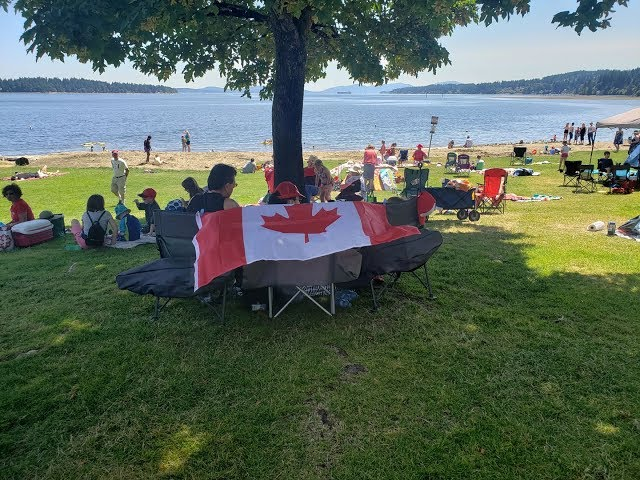 Canada Day Celebration at Transfer Beach, Ladysmith BC, Canada 2019