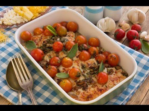 صدور دجاج بالجبن الشيدر و الطماطم + سلطة دجاج بالبطاطس - برنامج الكوكو ج2