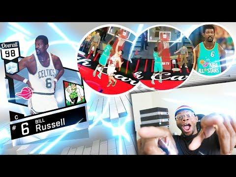FULL COURT SHOT SWISH!! BILL RUSSELL IS CLUTCH! OVERTIME THRILLER! - NBA 2K17 MyTeam