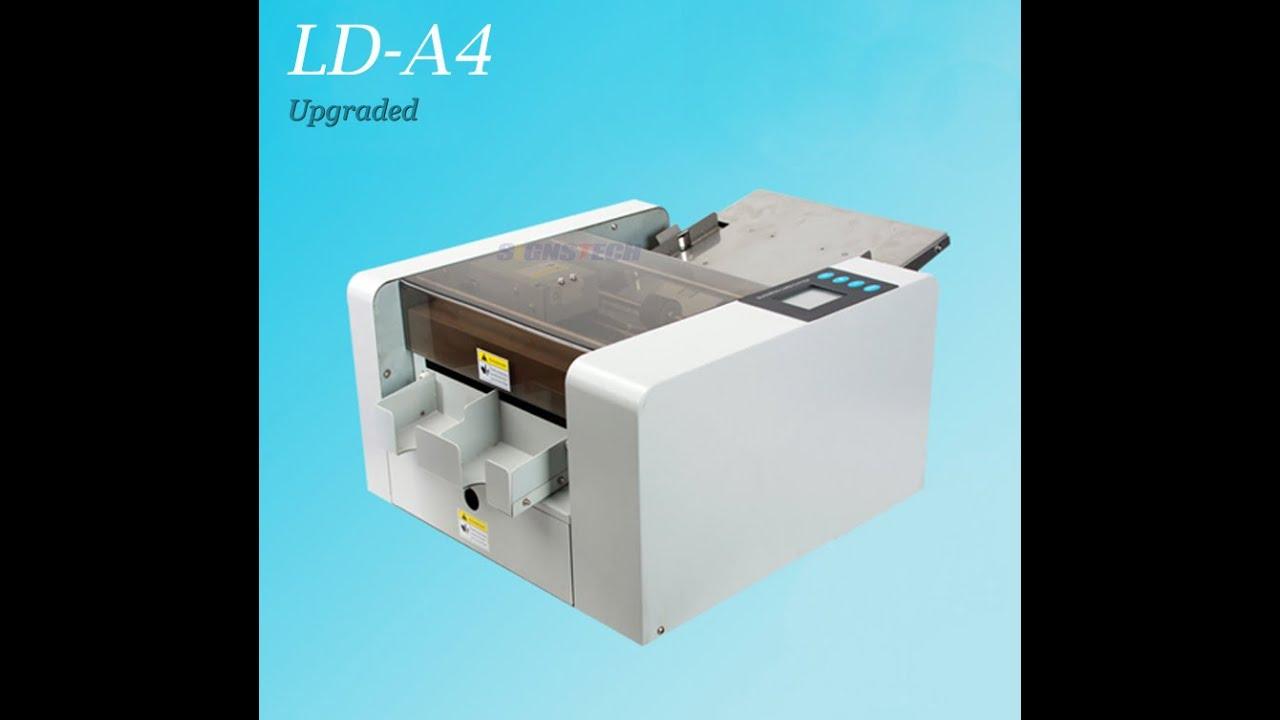 LD-A4 business card cutter - YouTube