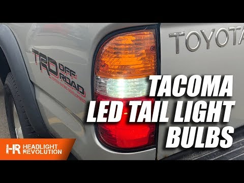 Toyota Tacoma 01-04  LED Tail Light Bulb Upgrades - Turn Signal, Reverse, Brake