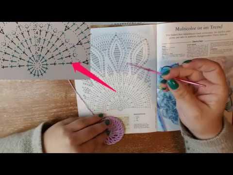 Häkelschrift Lesen Lernen Mit Beispiel Zierdeckchen Youtube
