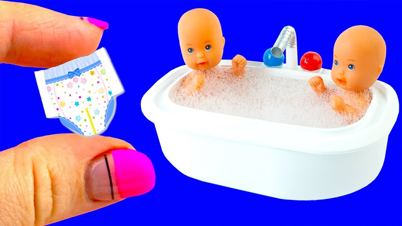 Download 31 DIY Barbie, Baby Hacks and Crafts | Miniature Baby Bath Tub, Bags, Bottles, and more!