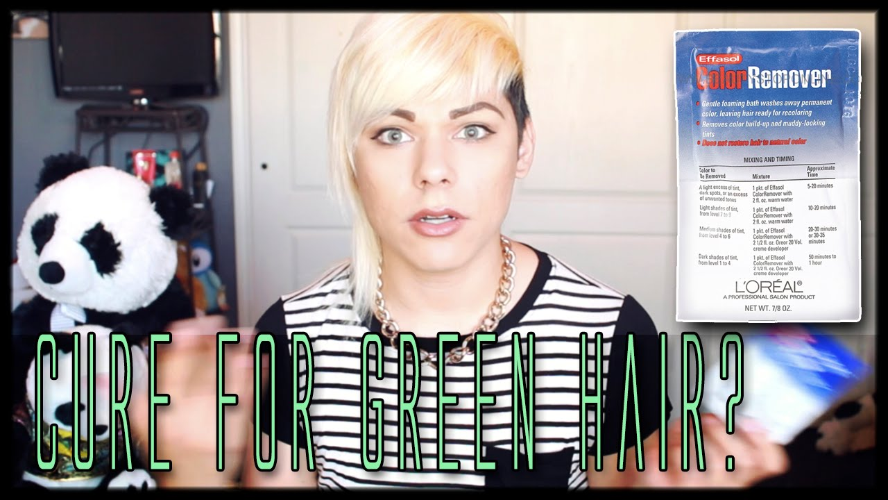 Omg My Hair Was Green L Oreal Effasol Color Removal A Cure For Mint Green Hair Youtube