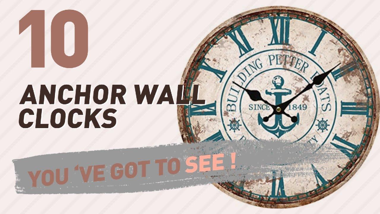 Anchor wall clocks new popular 2017 youtube anchor wall clocks new popular 2017 amipublicfo Images