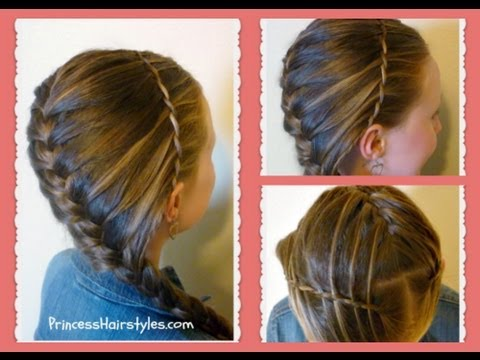 Waterfall Twist Headband French Braid Hairstyle Hair4myprincess
