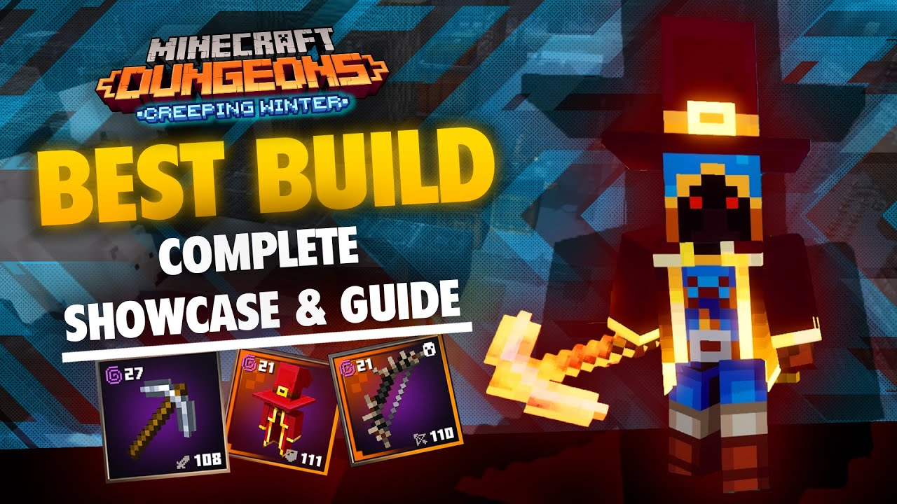 The Absolute Best Build in Minecraft Dungeons Creeping Winter A