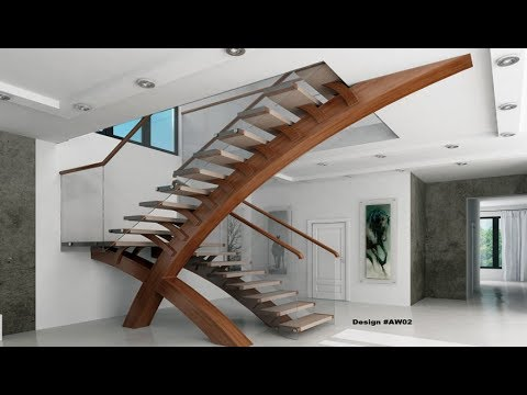 25 Modern Contemporary Staircase Design | Glass Staircase | Wooden Staircase,  Latest Collection 2018