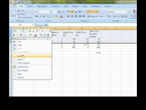 Activity2 - Excel - Spreadsheets - Sample Assessment Material