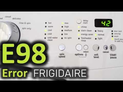 E98 Error Code SOLVED!!! Frigidaire Front Load Washer Washing Machine