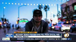 Recovery for man who fell from Crystal Pier