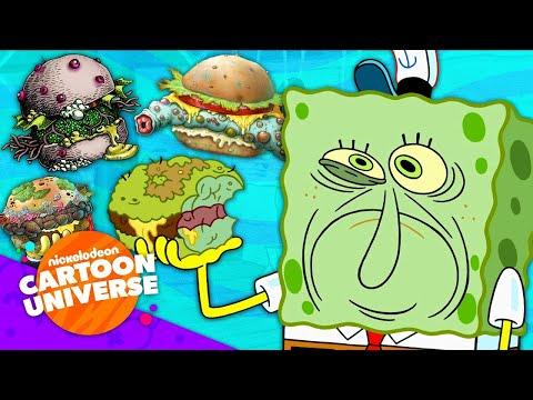 50 DIFFERENT Types of Krabby Patties! 🍔 | Nickelodeon Cartoon Universe
