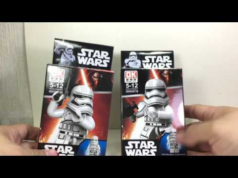 Star Wars Force Awakens LEGO Mini Figures K O  Versions Chefatron Toy Review