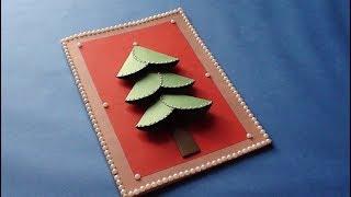 DIY Chirstmas Greeting Card Making at Home Video Tutorial.