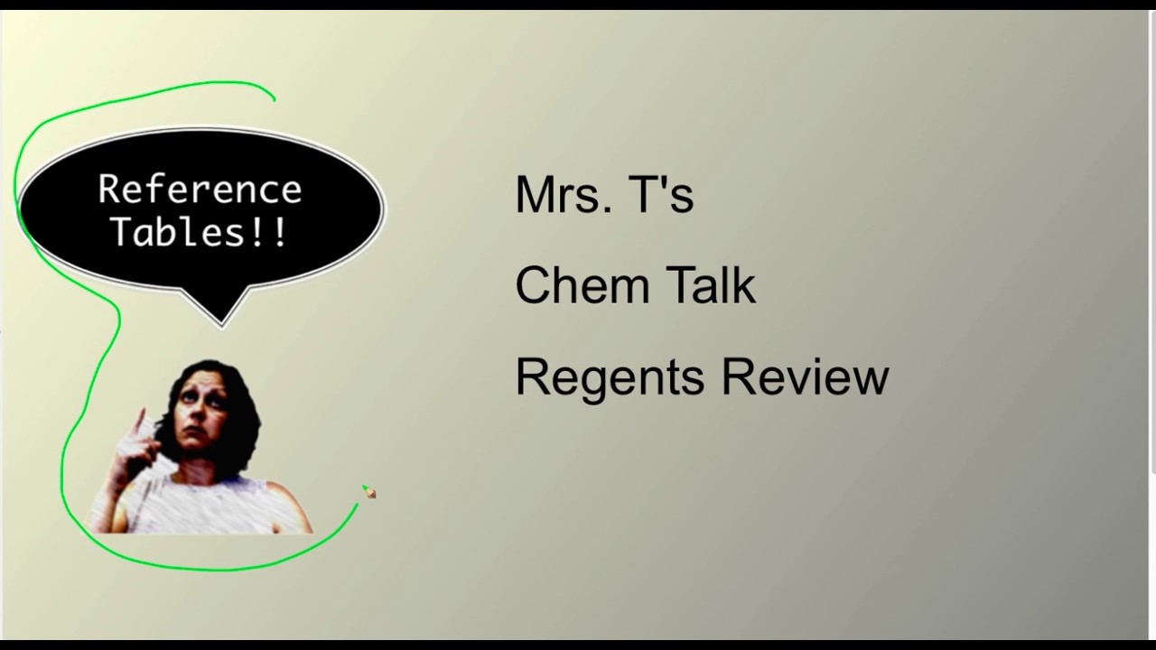 Mrs. T's Chem Talk Regents Review Reference Tables A through G ...