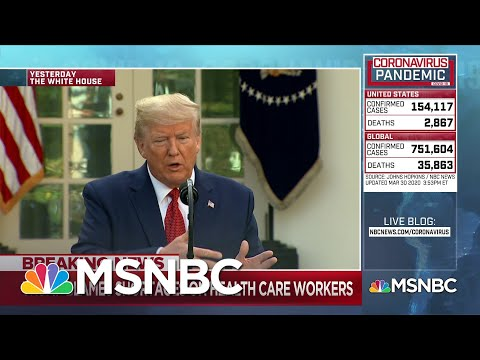 Trump extends social distancing to the end of April as the coronavirus death toll rises | MSNBC