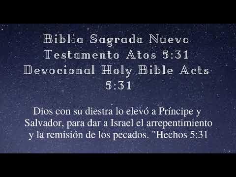 la-santa-biblia-nuevo-testamento-hechos-5,31-devocional-holy-bible-acts-5,31