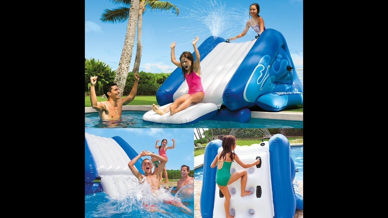 "Inflatable Pool Slide Intex review: intex water slide inflatable play center, 135"" x 81"" x 50"