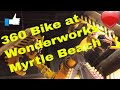 Riding the 360 Bike at Wonderworks Myrtle Beach