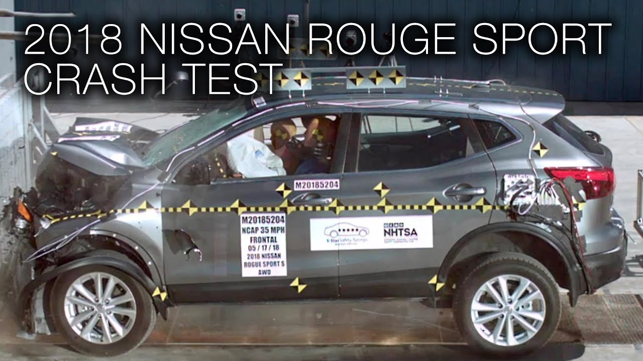Nissan Rogue Safety Rating >> Nissan Rogue Sport 2018 Frontal Crash Test