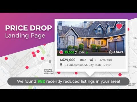 InCom Real Estate Website Price Drop Landing Page