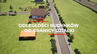 Odległość  budynku od granicy działki