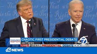 Highlights from first presidential debate between President Donald Trump, former VP Joe Biden
