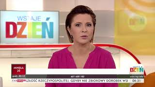 """TVP Info - Fragmenty pasma """"Wstaje Dzień"""" (27.08.2018)"""