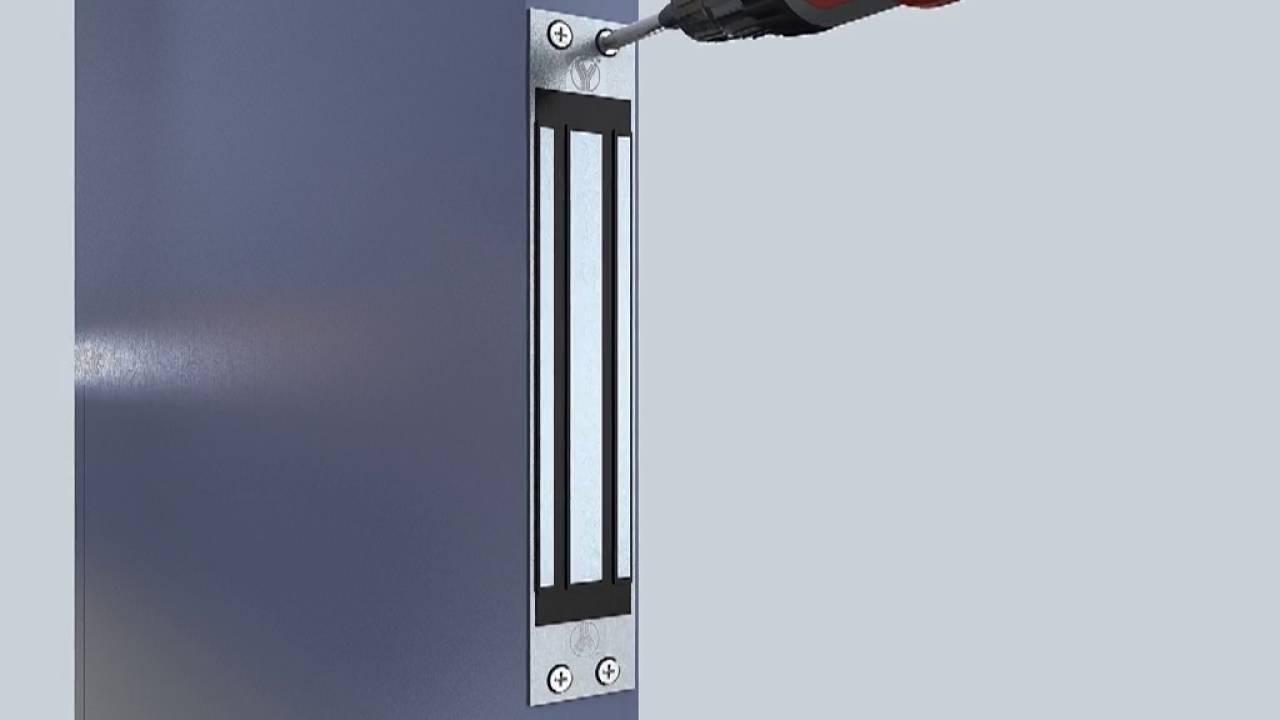 Single Door Magnetic Lock 600lbs With Mortise Mount Youtube