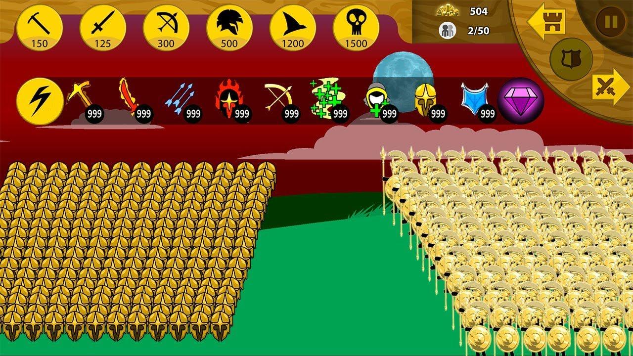 Download Stick War Legacy Mod Huge Update - Speartons Golden Vs Griffon