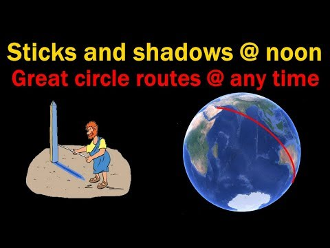 Flat earth, How to use great circle to measure earth's radius thumbnail