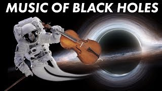 The music of falling into a black hole