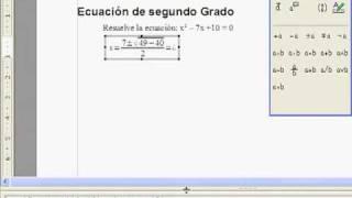 Ecuaciones en OpenOffice.org