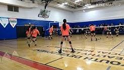 Team dig vs black(jersey) team, YMCA volleyball San antonio