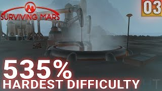 Surviving Mars 535% HARDEST DIFFICULTY - Part 03 - Metals and Machine Parts - Gameplay (1440p)