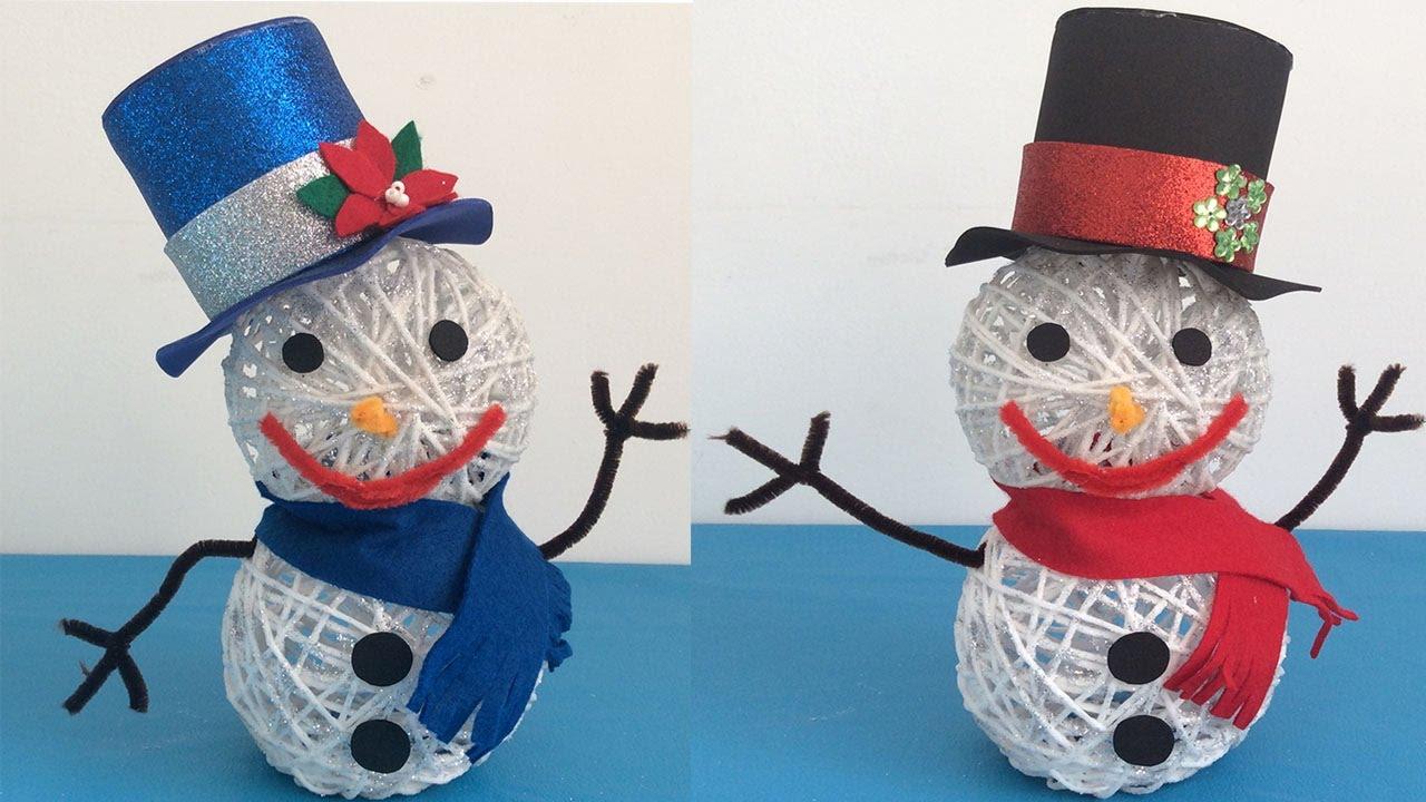 Mu eco de nieve snowman manualidades navide as - Decoracion de navidad manualidades ...