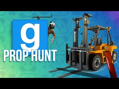 The Sneakiest Forklift Alive + Panda Finds a New Home! - GMOD PROP HUNT FUNNY MOMENTS