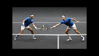 Federer/Nadal vs Querrey/Sock - Laver Cup 2017 Highlights (HD)