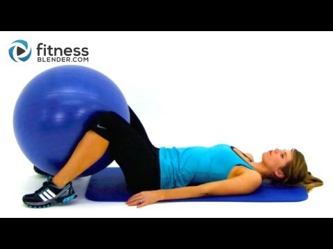 Total Body Exercise Ball Workout Video - Express 10 Minute Physioball Workout Routine