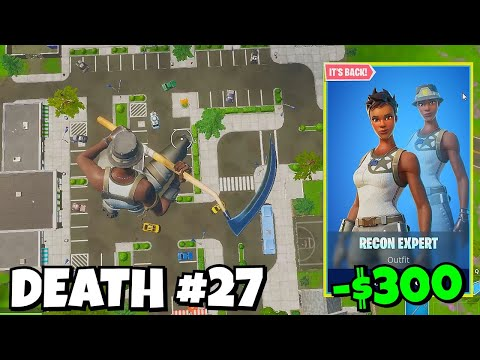 Every DEATH I Buy RECON EXPERT In Fortnite... (back In Item Shop)