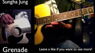 "How to play ""Grenade"" Like Sungha Jung on guitar part 1"