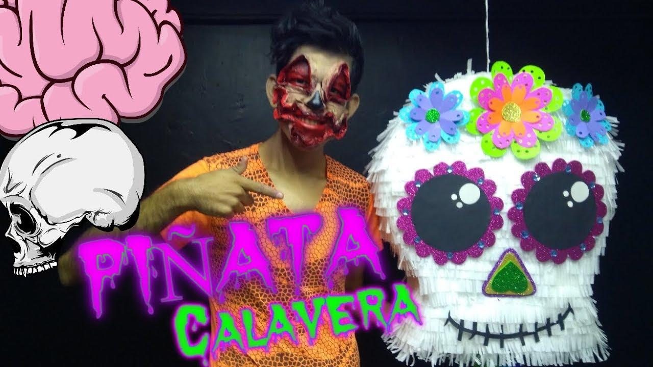 Piñata Calavera En 10 Pasos Edrei Pop Youtube