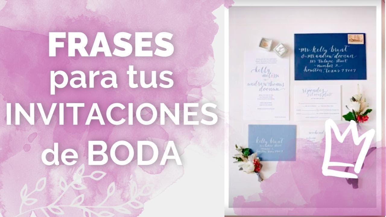 Frases De Amor Para Invitaciones De Boda Frases Célebres