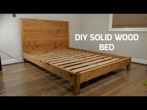 DIY Solid Wood Bed | NATHAN BUILDS