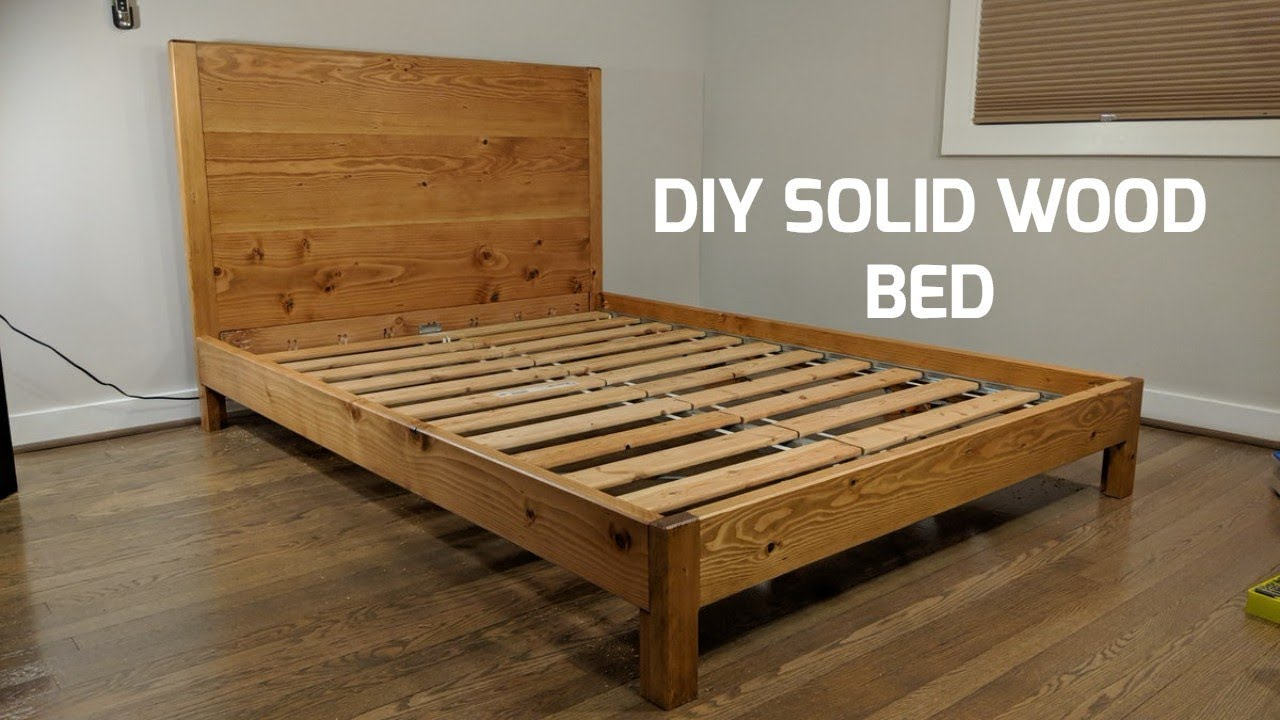 Vollholz Bett Diy Solid Wood Bed | Nathan Builds - Youtube