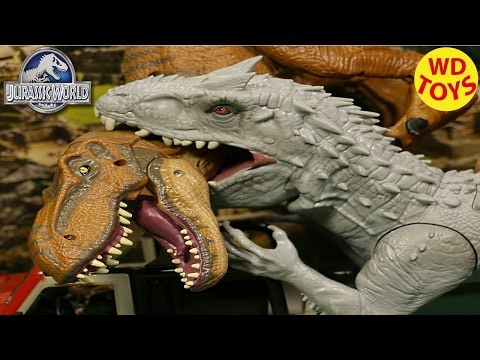 New Jurassic World INDOMINUS REX 2015 Electronic Lights & Sound UNBOXING Review  By WD Toys
