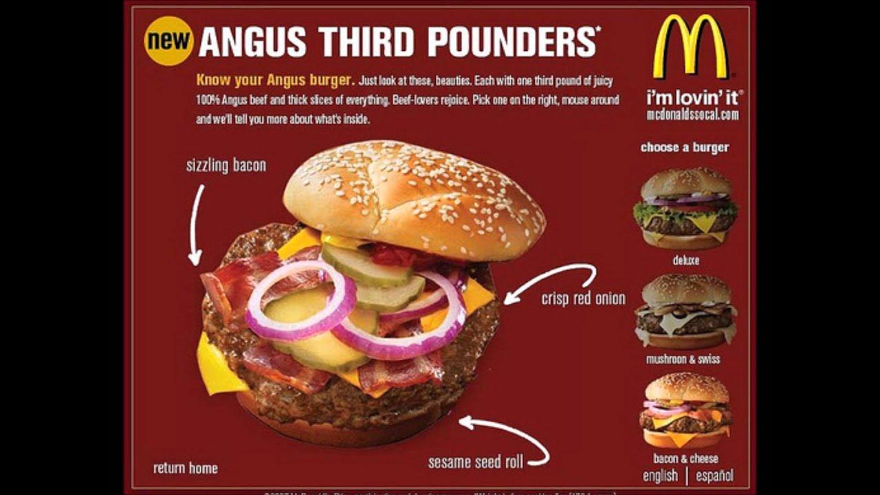 Anus burger at mcdonalds