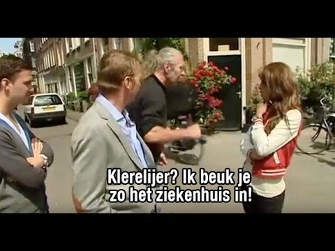 Glennis Grace gets into a fight during a street interview in the Netherlands